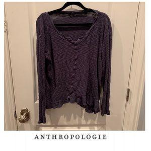 Anthropologie Left of Center Blue Asymmetric Top